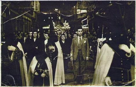 José Arroyo en Semana Santa Málaga 1944 -